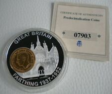 More details for 2006 history of british currency farthing 1937-1952 farthing inlay (george vi)
