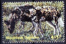 Lycaon, King of wolves,  Wild Animals, Togo 2001 MNH -E58
