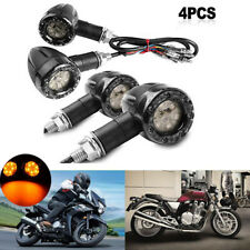 4x Universal Motorcycle Turn Signal Brake Lights Indicators Led Amber Lamp Rear