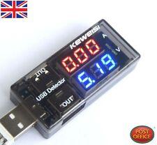 cargador USB Médico Corriente Voltaje Charging Detector baterías Voltímetro Amp