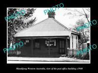 OLD LARGE HISTORIC PHOTO OF MUNDIJONG WESTERN AUSTRALIA, THE POST OFFICE c1940