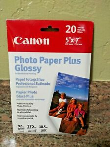 Canon Photo Paper Plus Glossy 5 x 7 #PP101 Premium Quality 20 Sheets NEW Sealed