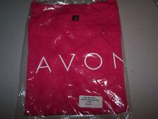 Avon Ladies Dk Pink Boatneck Tee T-shirt  Large