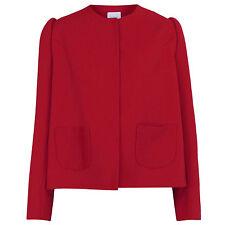DELPOZO $1,950 structured shoulder FW14 runway blazer coat red jacket 44/12 NEW