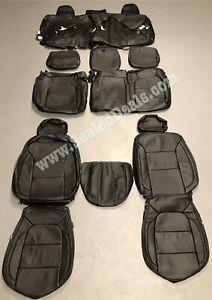 2019 > 2021 Chevy Silverado Katzkin Black Leather Seat Covers - TUSCANY UPGRADE!