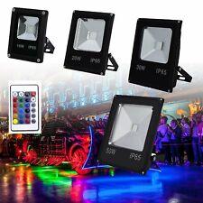 LED RGB Fluter Flutlicht Farbig Scheinwerfer Gartenstrahler IP65 Außen 10W - 50W