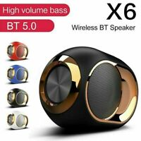 X6 Wireless bluetooth 5.0 Speaker 3D Stereo Bass Subwoofer TF FM AUX U Disk