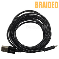 Heavy Duty 10Ft Micro USB Fast Charger Data Cable Cord For Samsung Android HTC