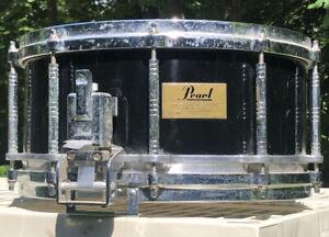 Pearl Free-Floating Maple Snare Drum Japan Black