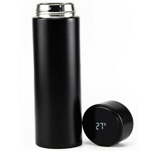 500ml Stainless Steel Thermos LED Travel Vacuum Coffee/Water/Hot Tea Bottle 17oz