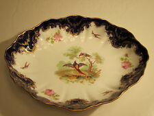 """Royal Doulton Alfred Pearce Bludgate Hill Birds & Pink Roses Decorated 10"""" Bowl"""