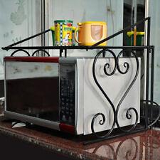 Mikrowelle Regal Rack Mikrowellenhalter Küchenregal Ständer Storage Schwarz GB