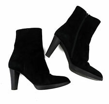 Denkstein Stiefelette 38 schwarz Wildleder high heels top booties