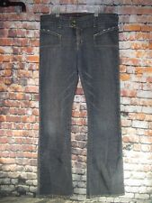 Von Dutch Size 30 Womens Flare Blue Jeans Kustom Made Originals