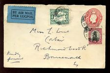 SOUTH AFRICA 1930 KG5 STATIONERY by AIRMAIL...UMBOGINTWINI