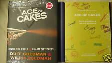 16x SIGNED BOOK The Ace of Cakes Duff Goldman 1/1 DJ HC Cast Food Network Rare