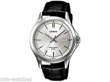 Casio MTP1380L-7A Mens Leather Dress Watch 50M Silver Dial Date