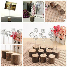 NUOLUX 6pcs Base Memo Photo Card Paper Note Clip Wedding Place Name Card Holders