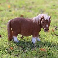 Shetland Pony Standing Country Farm Statue 5 in. Farm Resin New Colt Horse Brown