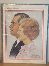 1972 Norman Rockwell Saturday Evening Post Page Candidates Wives Nixon