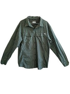 Columbia Men's Size L Long Sleeve Button Up Shirt Omni-Shade Sun Protection