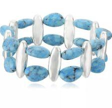 NWT Robert Lee Morris Turquoise Stretch Bracelet $58.00