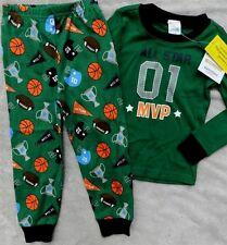 Pajama Set Gymboree Sports Green 2pc Gymmies Cotton Boy size 12-18 months New