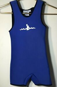 Warm Belly Toddler Little Kids Blue Wetsuit Size Small Unisex