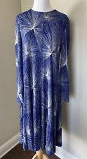 Diane Von Furstenberg Acrylic A-Line Starburst Dress Medium Vintage 14