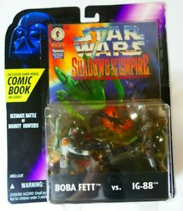 Star Wars Kenner Shadows Of The Empire Boba Fett Vs. IG-88 With Comic Book 1996