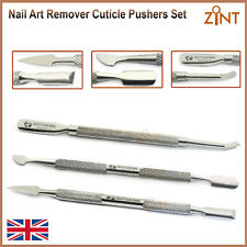 Cuticle Pusher Manicure Gel Polish Cleaners Nail Cleaners Stainless Set Of 3