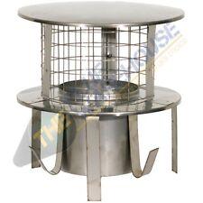 6 Inch Pot Hanger Stainless Steel with Rain Cap Mesh - Log Burner Flue