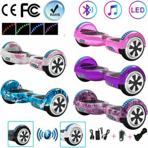 """Electric Scooters 6.5"""" Hoverboard Bluetooth Balance Board 2 Wheels E-skateboard"""