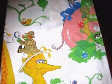 Vintage Sesame Street Muppets on Safari in Africa Twin Size Flat Bed Sheet