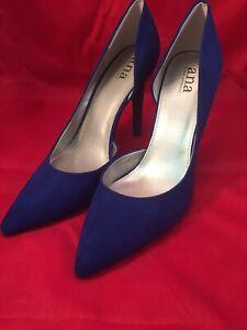 ANA A.N.A. Blue Suede  Pump Size 11