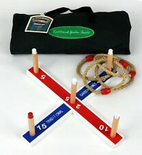 Traditional Garden Quoits Peg and Rope Ring Toss Hoopla Game