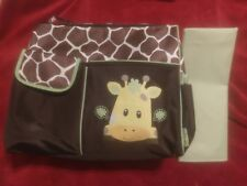 BABY BOOM GIRAFFE PRINT DIAPER BAG