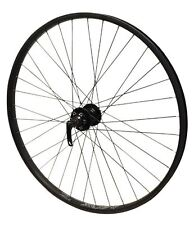 "26"" Alex Rims DM22 FRONT Q/R Joytech Disc Hub MTB Wheel Black Rim & Black Spokes"