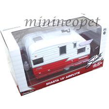 GREENLIGHT 18225 SHASTA 15' AIRFLYTE CAMPER TRAILER 1/24 RED CHASE GREEN MACHINE