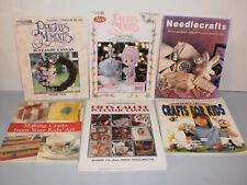 6 Craft Books Cross Stitch, Needle Craft, Kids, Precious Moments Platic Canvas