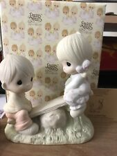 Precious Moments E-1375A -LOVE LIFTED ME - Retired 1993-ORIG 21-Butterfly w/ box