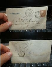 Malta 1879 incoming cover 30c from Italy with message, B/S (2bet)