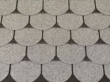 Dachschindeln 3 m? Biberschindeln Grau (21 Stk) Schindeln Dachpappe Bitumen