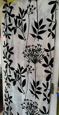 Pair of Black & White Country Club Curtains