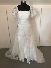 £300 Beautiful Size 10 Edwardian Inspired 'Titanic' Petite Wedding Dress(931)