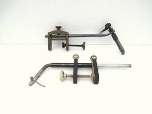Lot 2 Vintage Fly Fishing Tying Vise Clamp Tool  1 Made in India 1 in China  #45