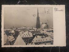 1929 Vienna Austria Postcard Rppc Postage Due Cover To Bratislava Czechoslovakia