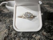 Ladies Harley Davidson Diamondand Gold ring by designer Syd Curtis