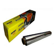More details for 2 x aluminium kitchen catering tin foil roast baking oven food wrap 75m x 450mm