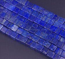 """Natural Lapislázuli Piedra preciosa Cuadrado Cubo Espaciador Perlas 4mm 6mm 8mm 10mm 15.5"""""""